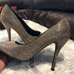 Champagne gold Nina heels